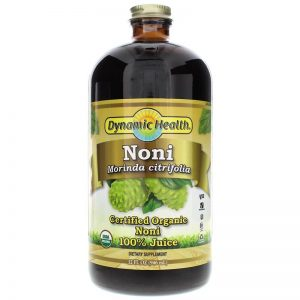 בקבוק זכוכית חצי ליטר מיץ נוני טהור ואורגני