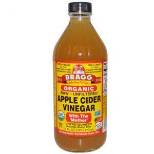בקבוק חומץ תפוחים אורגני חצי ליטר של ברד'
