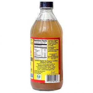 בקבוק חומץ תפוחים אורגני חצי ליטר של ברג'